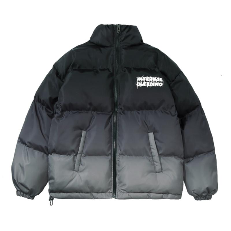 Men's Gradient Color Oversized Techwear Winter Jacket