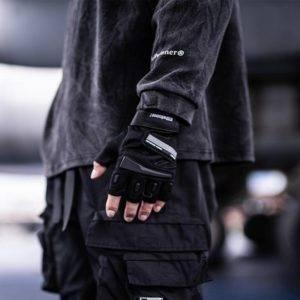 Men's Half / Full Finger Reflective Techwear Gloves