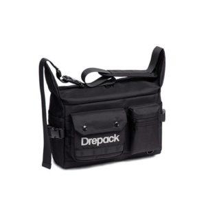 Men's Multi-Pocket Black Techwear Crossbody Bag