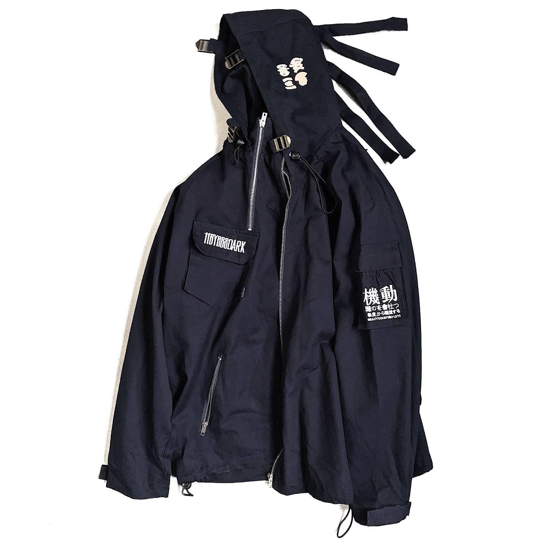 Men's Oversized Strappy Tactical Techwear Windbreaker