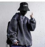 Men's Plush Oversized Techwear Zipper Sweatshirt