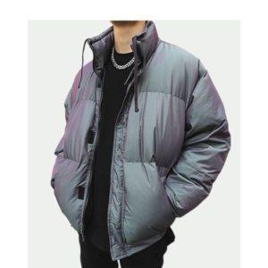 Men's Reflective Cotton Padded Techwear Winter Jacket