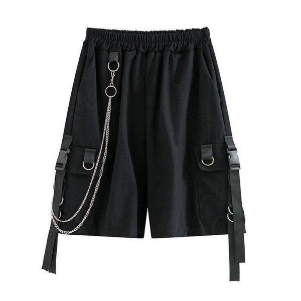 Men's Shorts Hot 2021 Summer Casual Fashion Style Boardshort Bermuda Male Drawstring Elastic Waist With Chain Beach Shorts Men