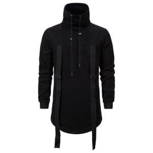 Men's Tactical Straps Turtleneck Techwear Sweatshirt
