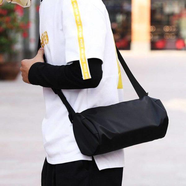New casual men's bag shoulder Messenger bag street trend hip hop tide cylinder small bag men crossbody bags