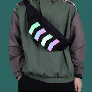 Oxford Reflective Stripes Techwear Waist Bag