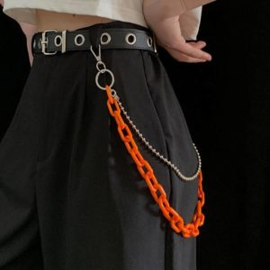 Punk Fashion Women Men Pants Waist Belt Chain Hip Hop Double Layer Chain Jeans Student Unisex Trousers Street Jewelry Gift
