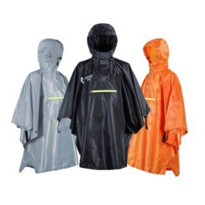 Rain Cape Men Women Raincoat Bicycle Waterproof Raincoat Rainwear with Reflector Rainproof Poncho with Reflective Strip