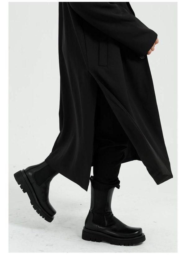 Spring new products Korean style solid color retro windbreaker loose coat coat men M9-F-D02-1