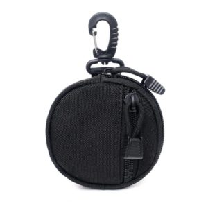 Tactical Round Wallet with Carabiner