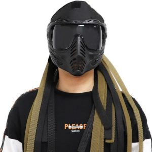 Tactical Full Face Protective Mask Masquerade Cosplay Mouth Mask Military Hunting Shooting Airsoft Paintball Goggles Mask