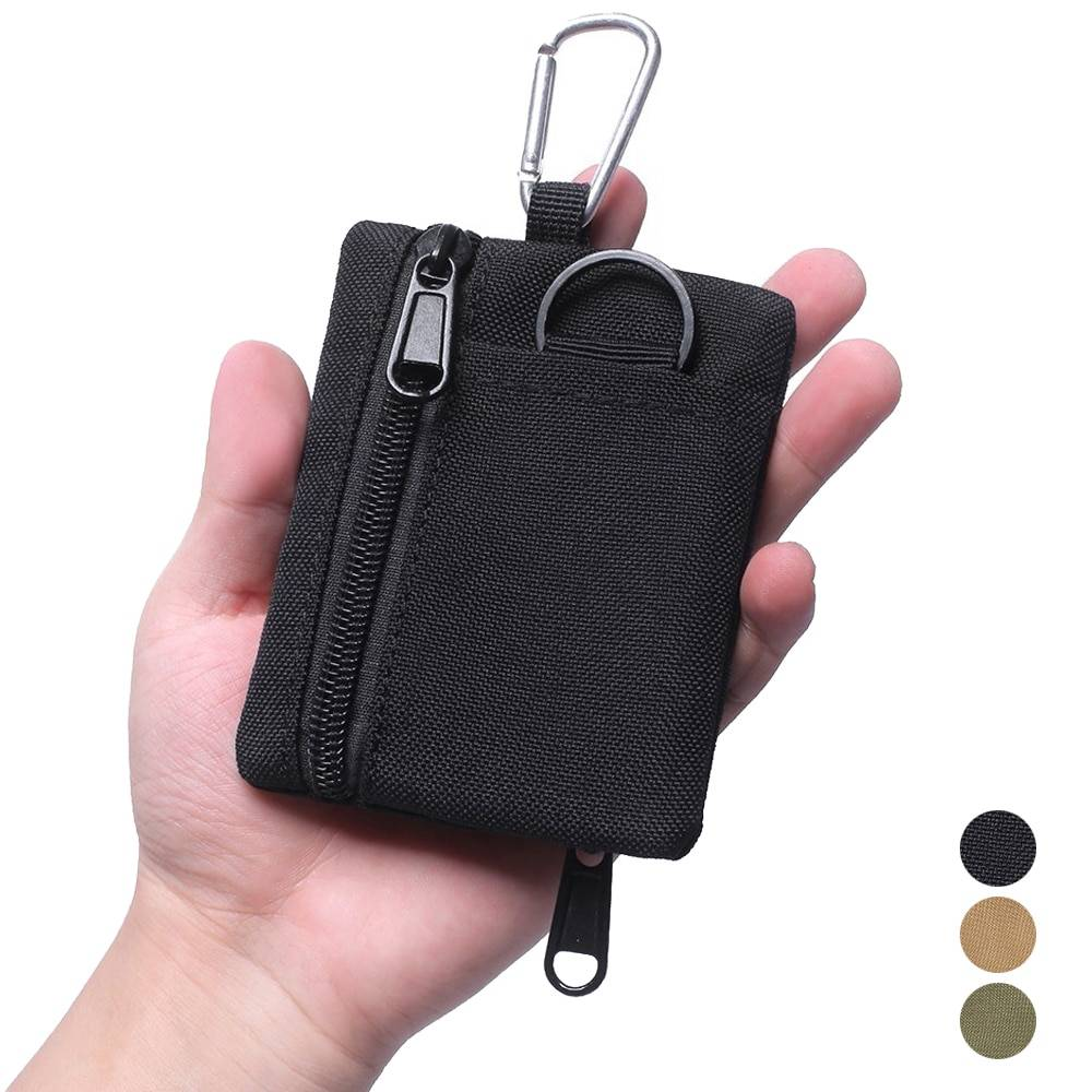 Tactical Style Portable Wallet with Carabiner