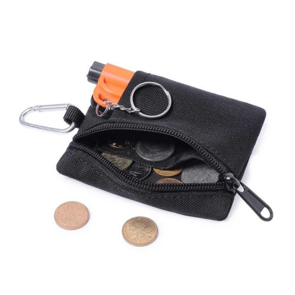 Tactical Wallet EDC Molle Pouch Portable Key Card Case Outdoor Sports Coin Purse Hunting Bag Zipper Pack Multifunctional Bag