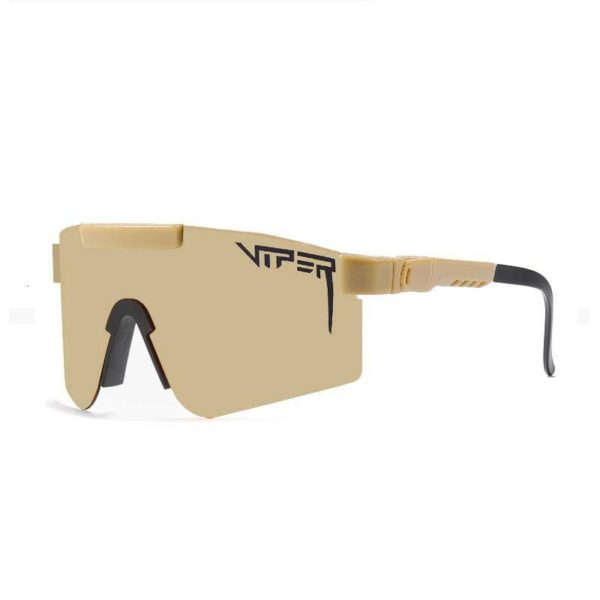 Techwear Adjustable Temple Sunglasses red pit viper double wide polarized men mirrored lens tr90 frame uv400 protection wih case