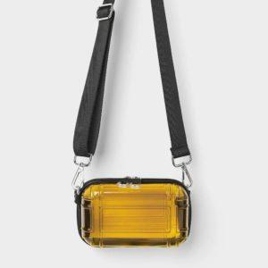 Transparent Design Techwear Messenger Bag with Wide Strap