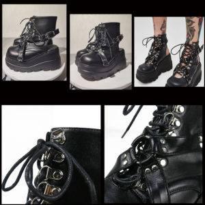 Ultra-High Platform Techwear Boots