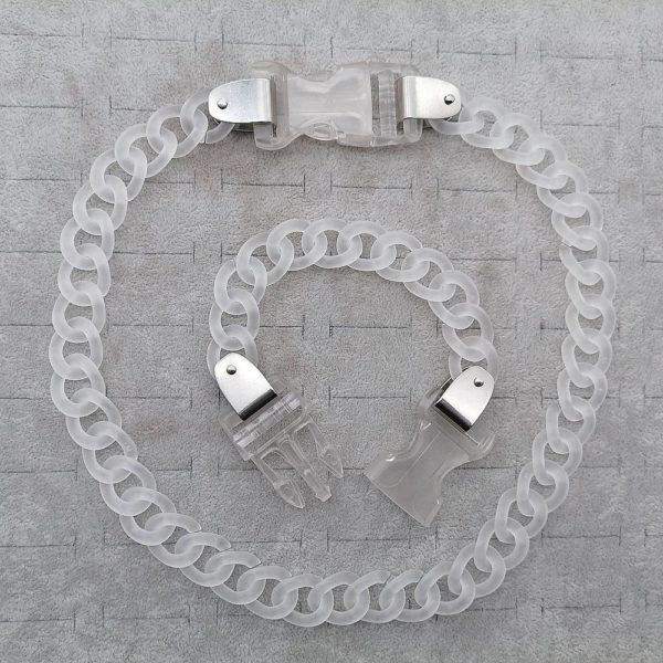 Unisex Acrylic Oversized Chain Techwear Necklace