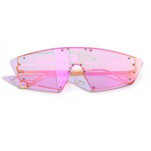 Women's Holographic Rimless Cyber Punk Sunglasses