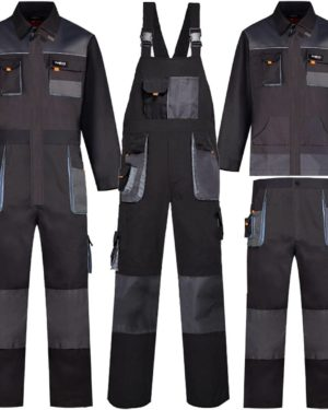 Welding Suits Working Bib Overalls Protective Auto Repair Strap Jumpsuits Durable Tooling Uniform Mechanic Multi-Pocket Coverall