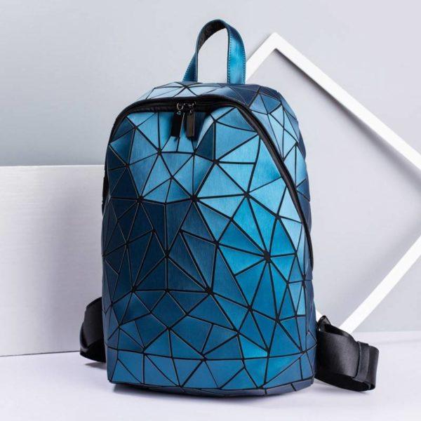 Women Hologram Backpack School Matte Geometric Backpacks Girls Travel Shoulder Bags For Women Totes Luxury Shoulder Bag Silver