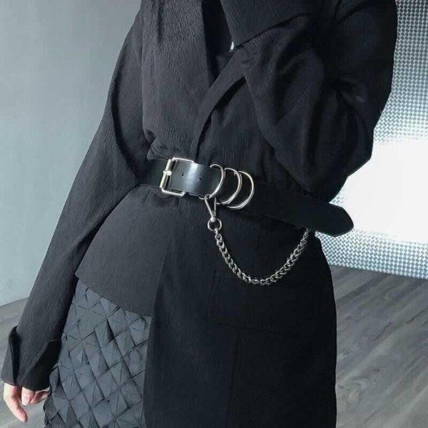 Women's Black Eco-Leather Techwear Harness