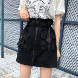 Women's Cargo Pockets Techwear Mini Skirt