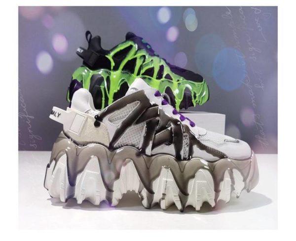 Women's Cyber Punk Chynky Platform Sneakers