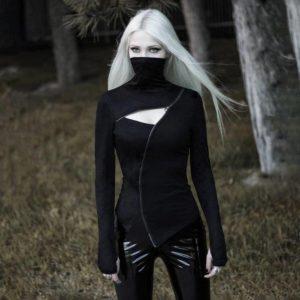 Women's Dark Ninja Asymmetric Techwear Top