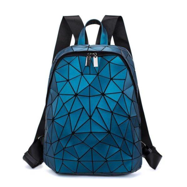 Women's Futuristic Mosaic Geometric Pattern Backpack