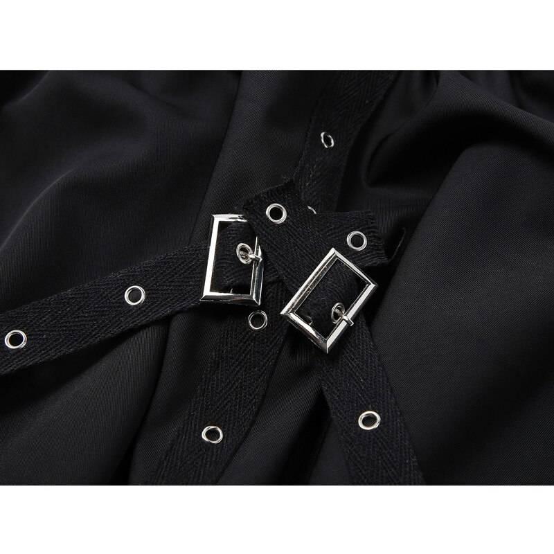 Women's Rivet Asymmetric Gothic Style Skirt